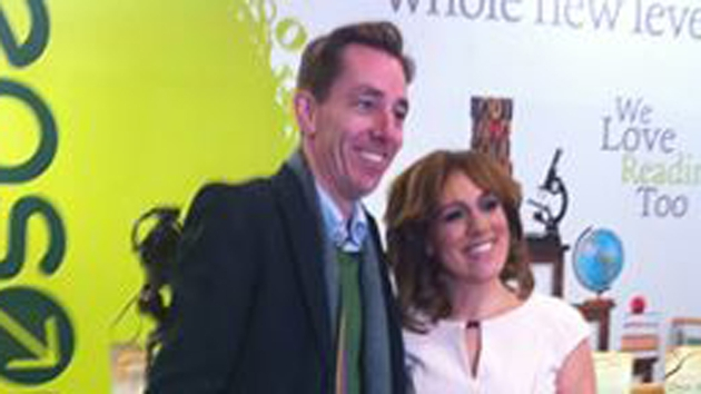Ryan Tubridy with Evelyn O'Rourke at last night's book launch