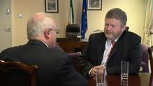 RTÉ's Health Correspondent Fergal Bowers interviews Health Minister James Reilly