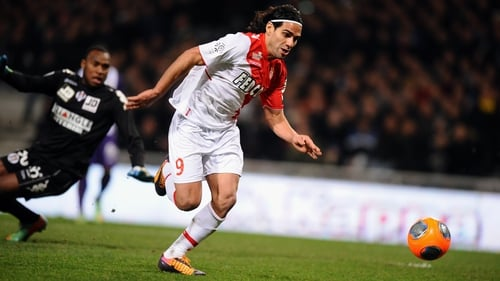 Radamel Falcao injured while playing for Monaco in January