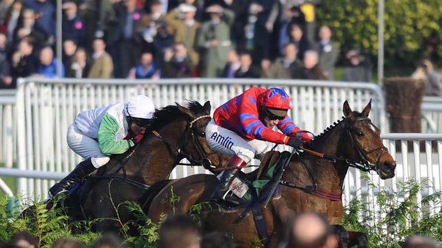 Balthazar King edged out Any Currency to win for a second time in the race