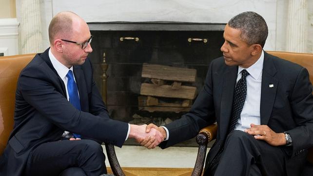 Barack Obama and Arseny Yatsenyuk met for face-to-face talks