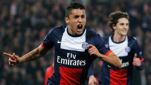 Marquinhos scores Paris Saint-Germain's first goal