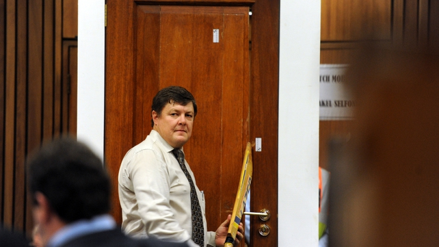 Col Gerhard Vermeulen admitted he did not carry out a microscopic examination of the door