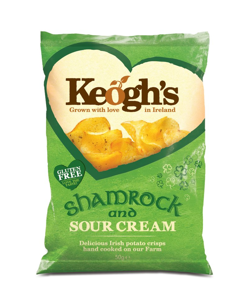 Keogh's Shamrock & Sour Cream flavoured crisps are back!