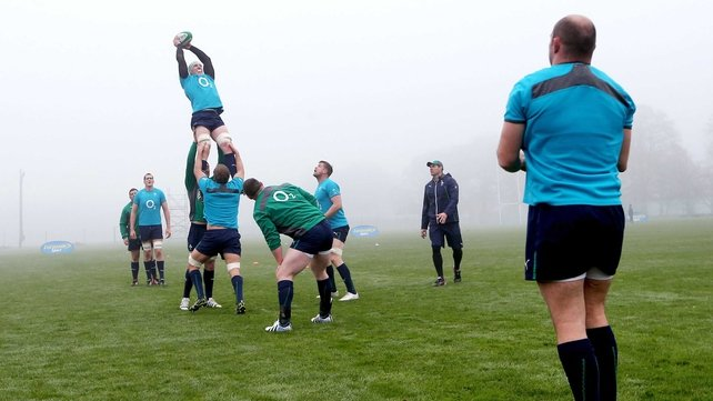 The Ireland team were put through their paces in the fog this morning