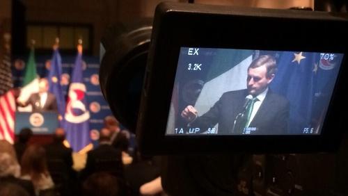 Taoiseach Enda Kenny addressing the US Chamber of Commerce in Washington DC
