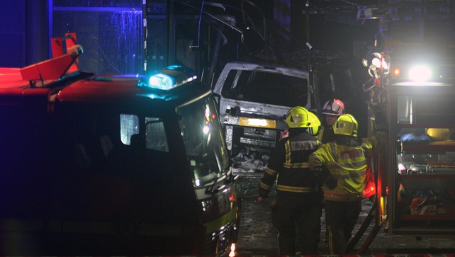 It appears the vehicle was then set alight causing considerable damage to the premises