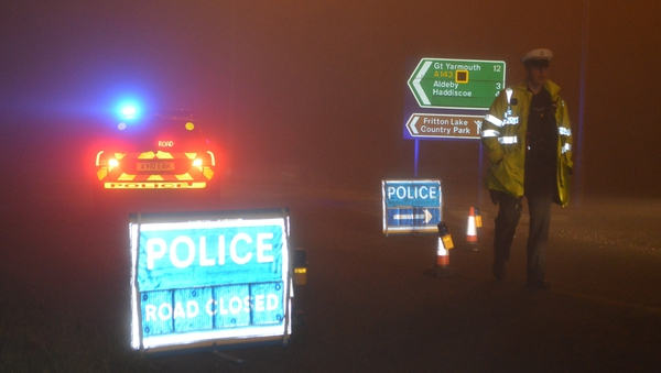 Police have said the area of the crash site has been cordoned off