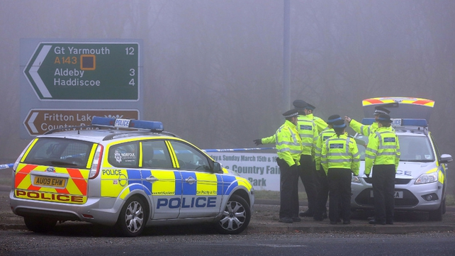 Police cordon remains in place around the crash site