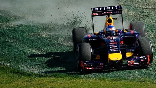 Sebastian Vettel spun out during practice in Australia