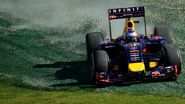 Sebastian Vettel spun out during practice in Australia