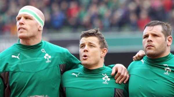 Paul O'Connell, Brian O'Driscoll and Mike Ross - Ireland can win the title with victory in France