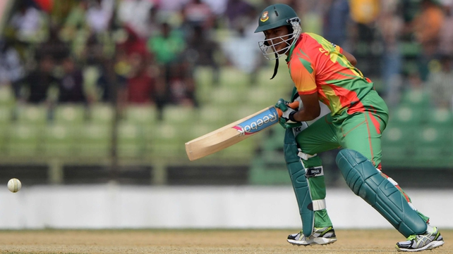 Shakib Al Hasan's stand of 58 say off Ireland