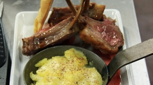Rack of lamb, dauphinoise potato, roasted vegetables with redcurrant reduction