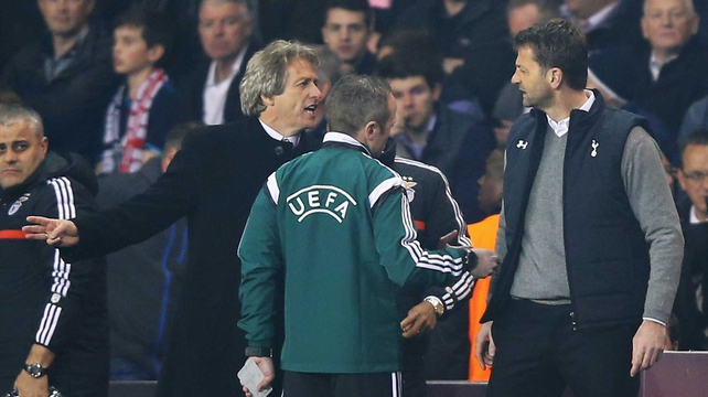 Jorge Jesus and Tim Sherwood had words on several occassions