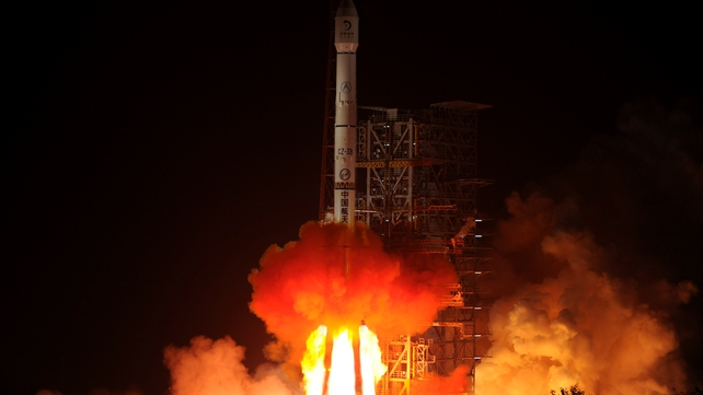 The Chang'e-3 rocket carrying the Jade Rabbit rover blasts off, from the Xichang Satellite Launch Center in the southwest province of Sichuan