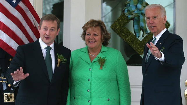 Mr Kenny and his wife Fionnuala attended a St Patrick's breakfast at Joe Biden's residence
