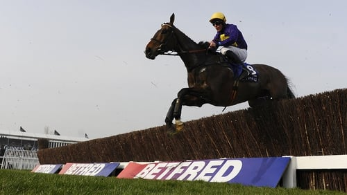 Lord Windermere became the first Irish-trained winner of the Gold Cup since War Of Attrition in 2006