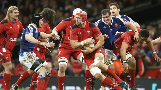 Luke Charteris in action against Wales