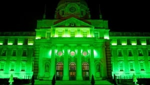 Government Buildings turned green to mark St Patrick's Day