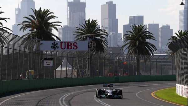 Lewis Hamilton in action at Albert Park