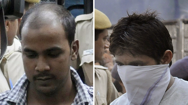 The court suspended the execution of Mukesh Singh (L) and Pawan Gupta