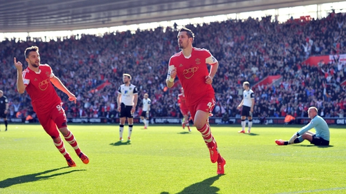 Morgan Schneiderlin celebrates Southampton's opener