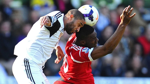 Ashley Williams and Victor Anichebe