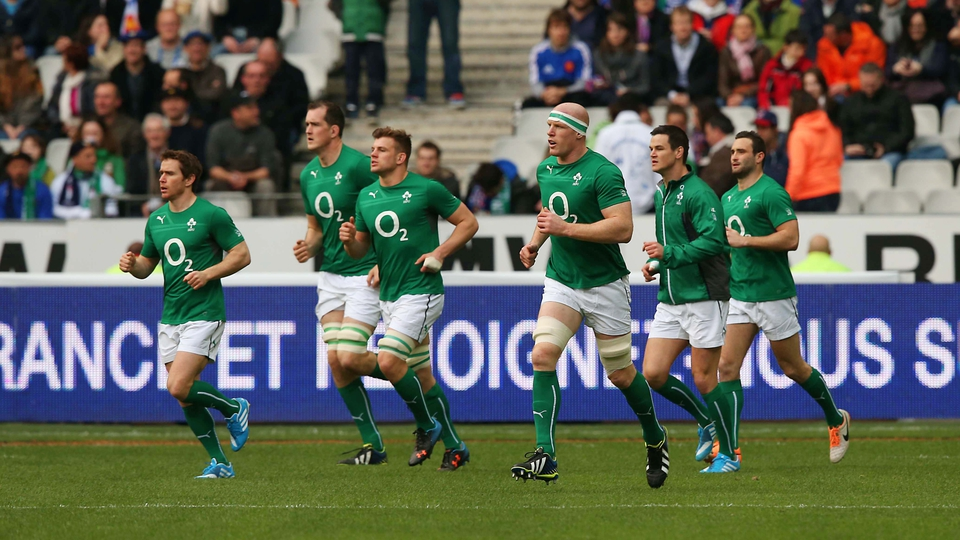 Ireland take to the field at Stade de France