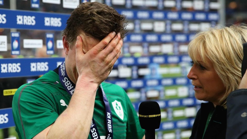 An emotional Brian O'Driscoll bowed out from the international stage in the best possible manner