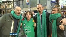 Rugby fans delight in Ireland's Six Nations win