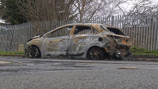 A burned-out car found yesterday in Glen Vale, Lucan may be linked to the killing