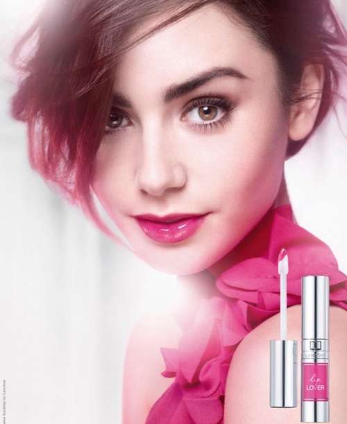 Actress Lily Collins is the new Lancôme ambassadress