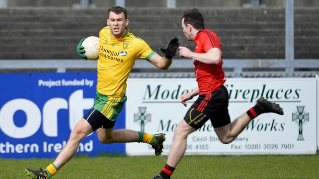 Down's Donal O'Hare and Donegal's Eamon McGee