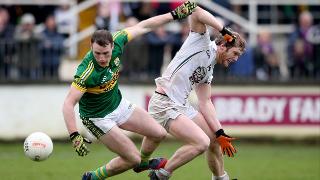 Kerry's Mark Griffin and Tomas O'Connor of Kildare