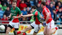Mayo shook off a poor start to end Cork's unbeaten run in the top flight of the Football League