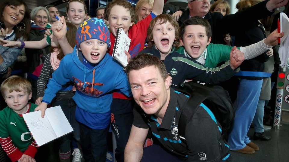 Delight was evident on the faces of both Brian O'Driscoll and the Ireland fans