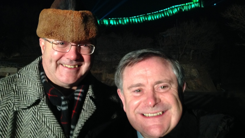 Ireland's Ambassador to China Paul Kavanagh with Minister for Public Expenditure and Reform  Brendan Howlin