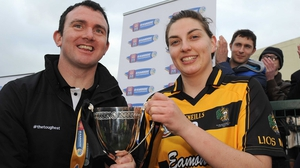Lismore captain Shona Curran with the cup