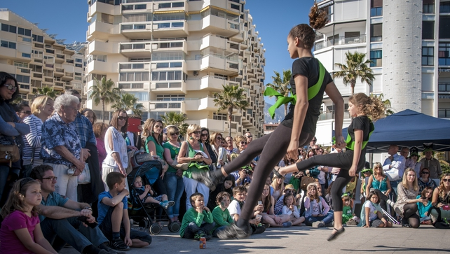 Russian and Spanish children performing an Irish dance routine at the St Patrick's Festival in Marbella (Pic: Thomas Jennings)