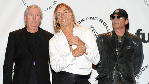 James Williamson, Iggy Pop and Scott Asheton at the Rock And Roll Hall Of Fame Induction 2010
