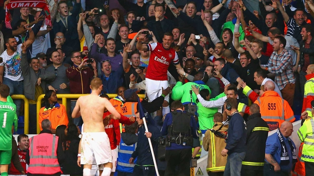 The result kept Arsenal's title ambitions alive but effectively ended Spurs' top-four ambitions