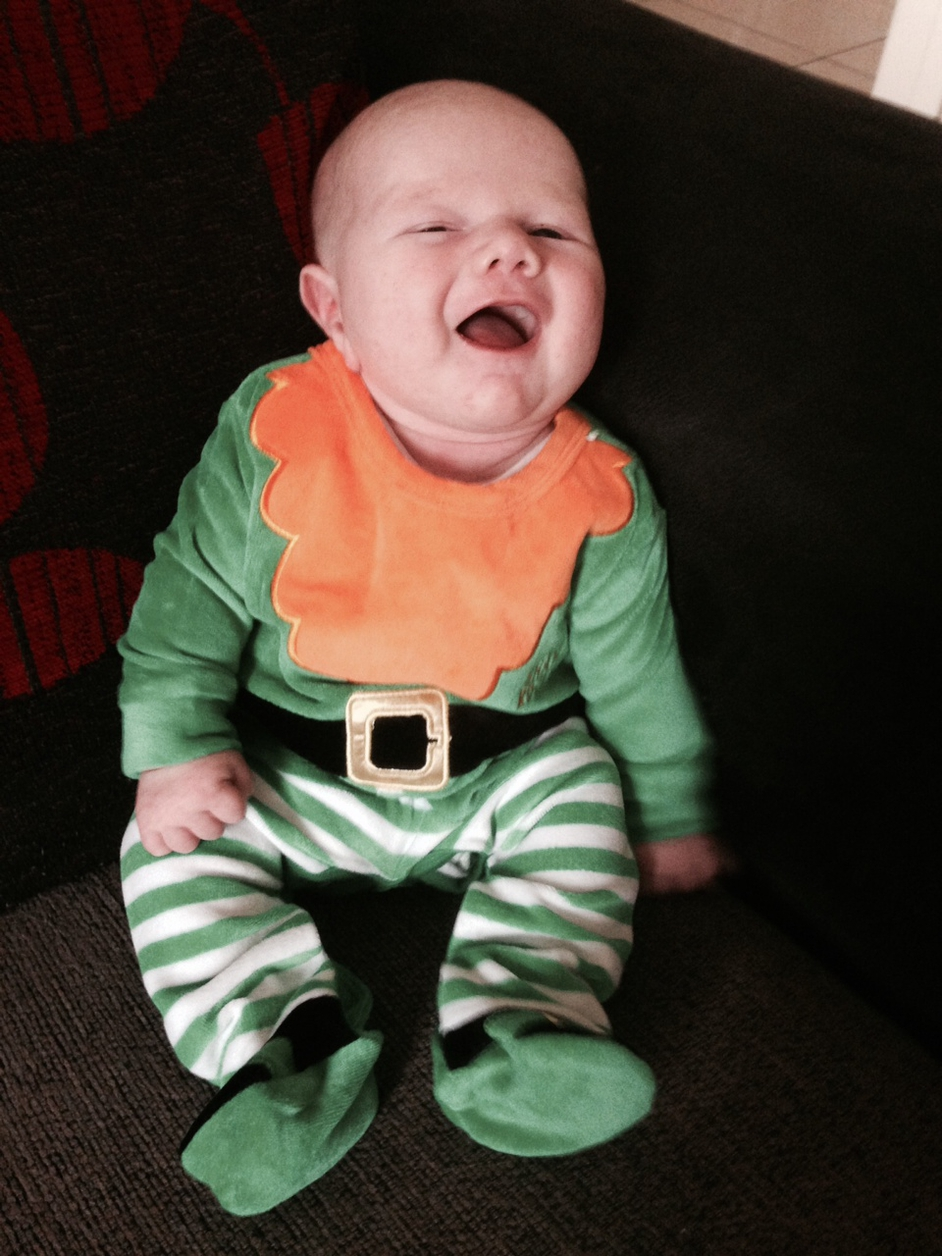 Charlie Kelly celebrates his first St Patrick's Day at home in Co Donegal