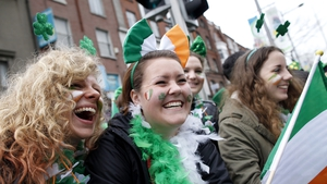 Spectators enjoying the St Patrick's Festival in Dublin