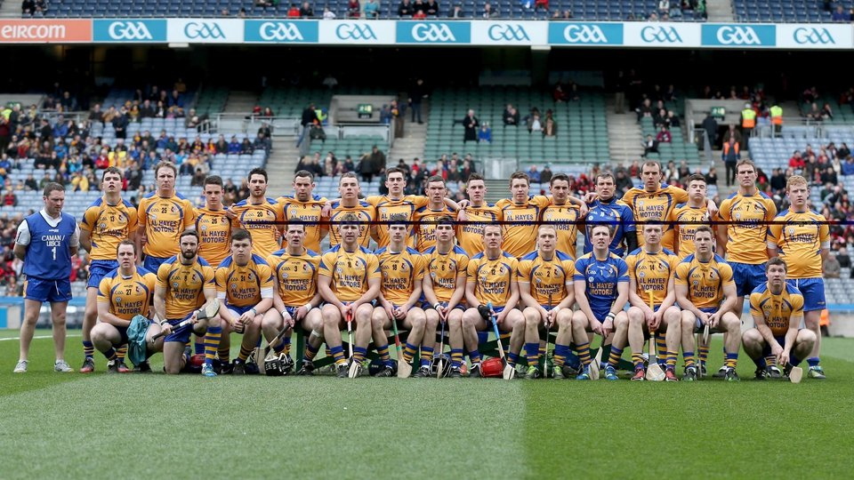 The Portumna team line up ahead of the SHC final
