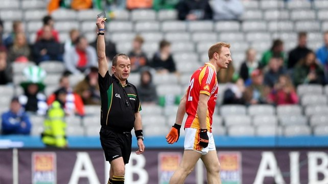 Castlebar Mitchels Richie Feeney saw black in the All-Ireland club football final