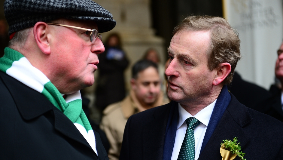 Archbishop Dolan also met Taoiseach Enda Kenny