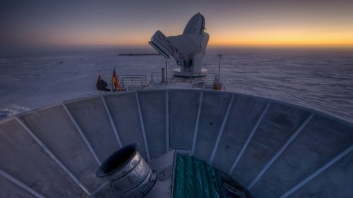 The BICEP2 and South Pole Telescope which were used to make the discovery