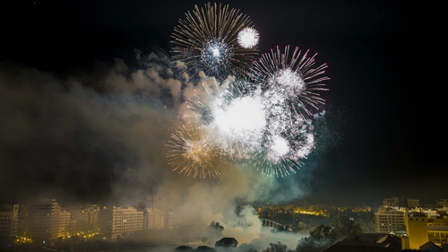 Fireworks marked the celebration of the traditional Fallas Festival in Valencia late last night (Pic: EPA)