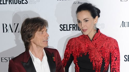 Jagger with L'Wren Scott